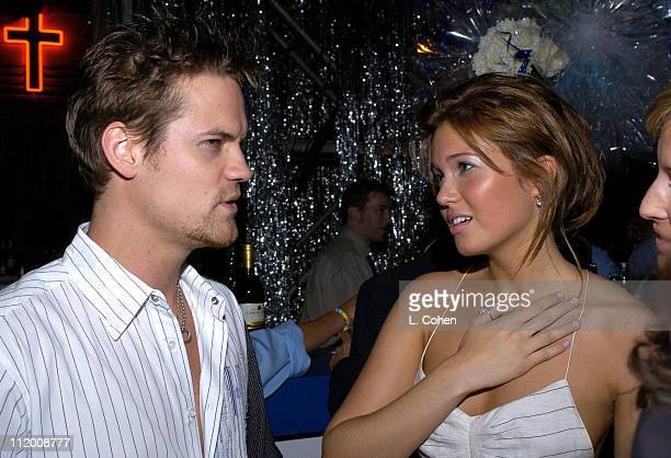Shane West and Mandy Moore during Saved Los Angeles Premiere After Party at Beverly Hills High School in Beverly Hills California United States