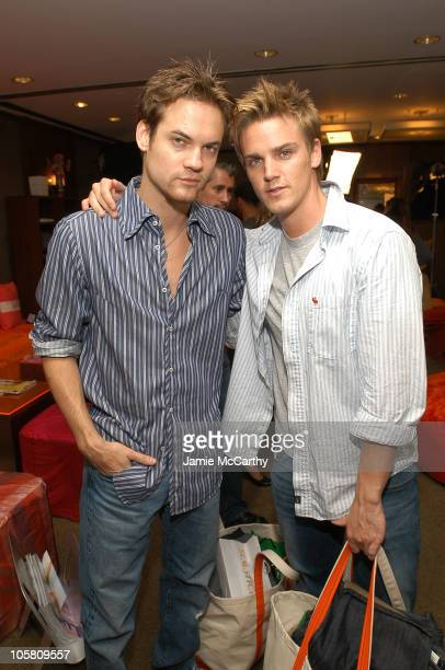 Shane West and Riley Smith during The Lucky/Cargo Club An Upfront Week Hospitality Suite Day 2 at Le Parker Meridien in New York City New York United...