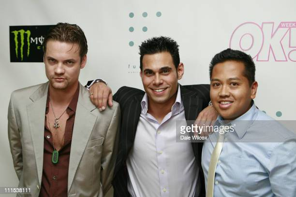 Shane West Eric Podwall and Rembrandt Flores during Shane West and Eric Podwall's Birthday Party June 25 2006 at Skybar in Hollywood California...