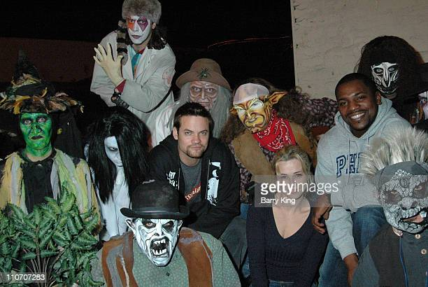 Shane West Linda Cardellini and Mekhi Phifer during Linda Cardellini Mekhi Phifer and Shane West of ER Visit Knott's Scary Farm's 34th Annual...