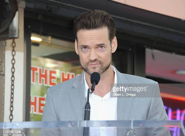 Shane West speaks at Mandy Moore's Star Ceremoney On The Hollywood Walk Of Fame on March 25 2019 in Hollywood California