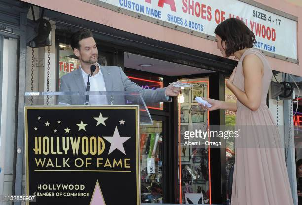 Shane West speaks at Mandy Moore's star ceremony on The Hollywood Walk of Fame on March 25 2019 in Hollywood California Moore and Shane West...