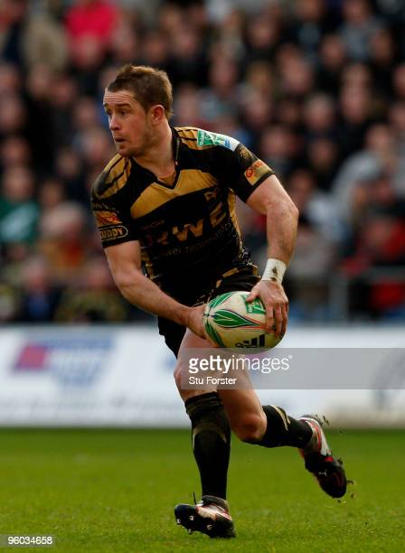 Shane Williams of the Ospreys in action during the Heineken Cup Round 6 Pool 3 match between Ospreys and Leicester Tigers at Liberty Stadium on...