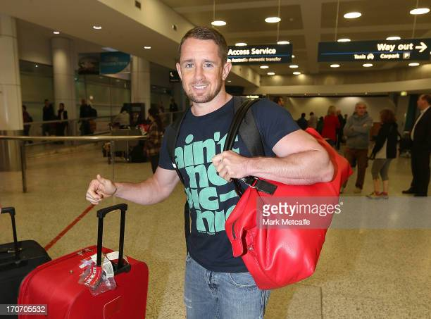 Shane Williams of Wales arrives at Sydney International Airport on June 17 2013 in Sydney Australia Williams joins the current British Irish Lions...