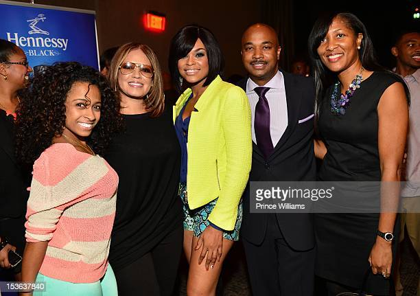 Shanell Perri Pebbles Reid Demetria McKinney and counselman Kwanza Hall and hif wife attend the ASCAP RB Soul ATL Legends Mixer at the W Atlanta...