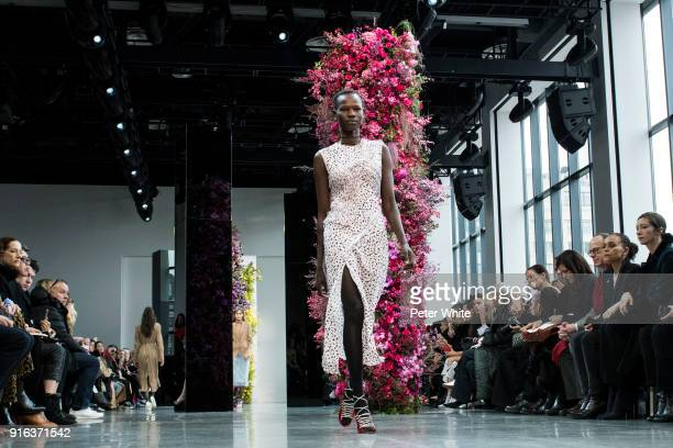 Shanelle Nyasiase walks the runway at Jason Wu Fashion Show during New York Fashion Week The Shows at Gallery I at Spring Studios on February 9 2018...