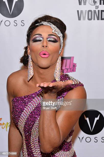 Shangela arrives at a viewing party for the season six finale of RuPaul's Drag Race at the New Tropicana Las Vegas on May 19 2014 in Las Vegas Nevada