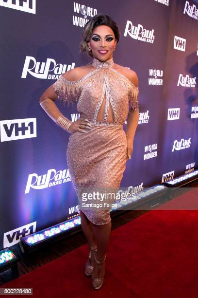 Shangela attends 'RuPaul's Drag Race' Season 9 Finale Viewing Party at Stage 48 on June 23 2017 in New York City