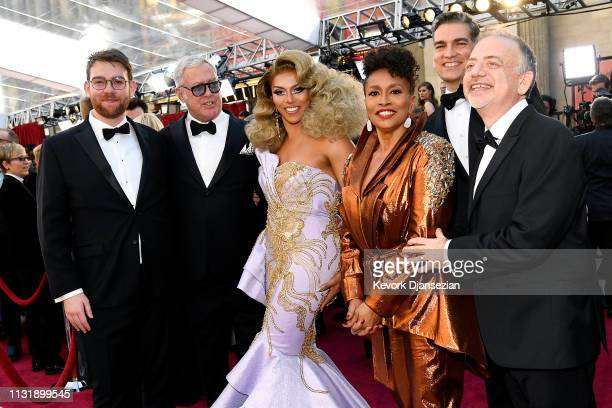 Shangela Jenifer Lewis Louis Mirabal composer Marc Shaiman and guests attend the 91st Annual Academy Awards at Hollywood and Highland on February 24...