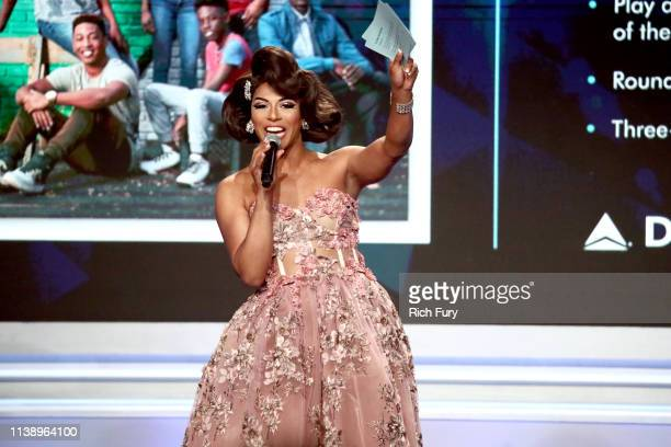 Shangela speaks onstage during the 30th Annual GLAAD Media Awards Los Angeles at The Beverly Hilton Hotel on March 28 2019 in Beverly Hills California