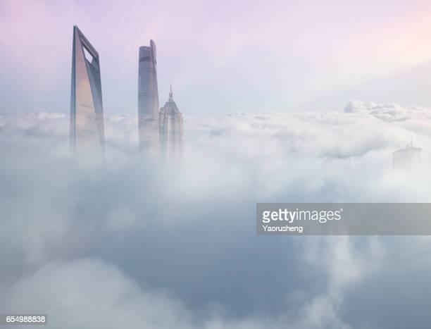 Shangghai building in the cloud sea