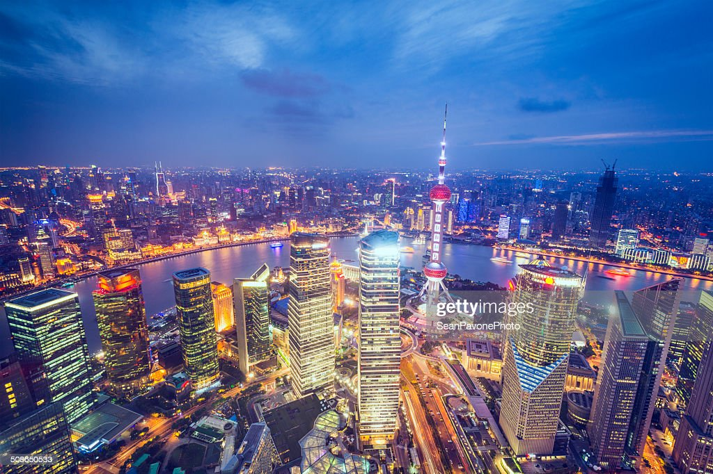 Shanghai Aerial View : Stock Photo