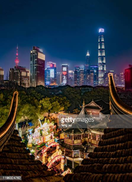 shanghai at dawn - shanghai stock pictures, royalty-free photos & images