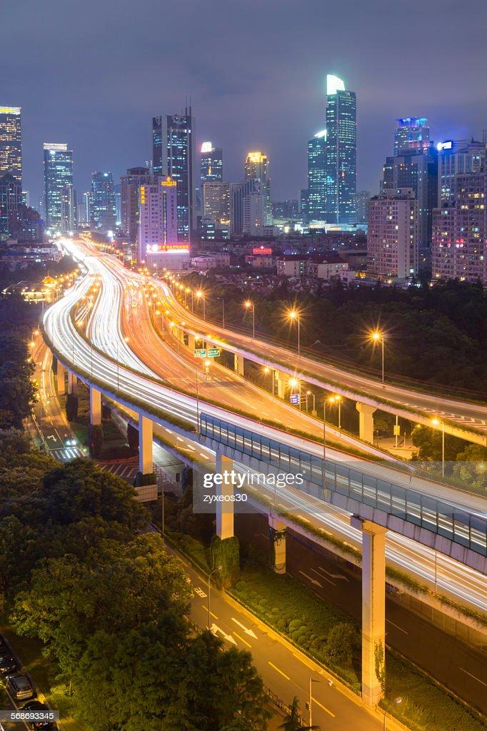 Shanghai at night : Stock Photo
