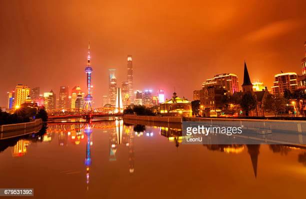Shanghai at rainy night, China