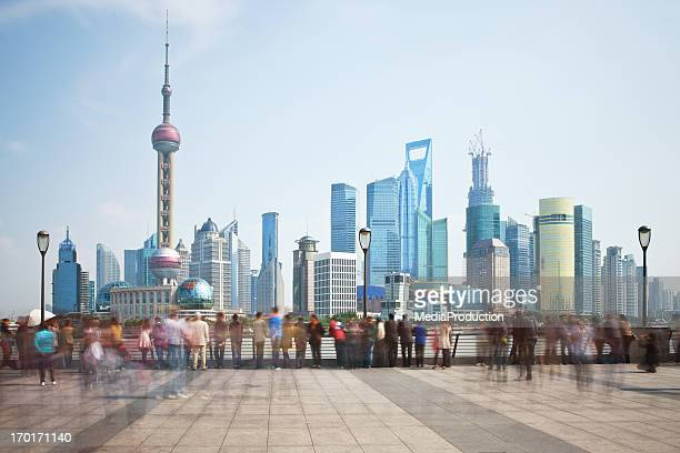 shanghai bunt and padong areas - the bund stock photos and pictures
