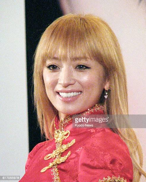 Shanghai China File photo taken in Shanghai on April 20 shows Japanese pop singer Ayumi Hamasaki She announced on Jan 16 through the website of her...