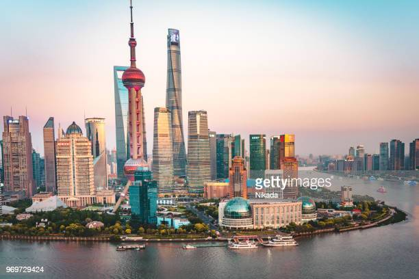 shanghai, china - modern skyline - shanghai stock pictures, royalty-free photos & images