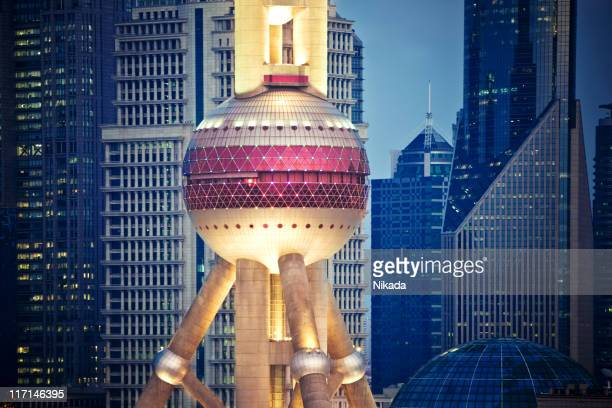 shanghai, china - oriental pearl tower shanghai stock pictures, royalty-free photos & images