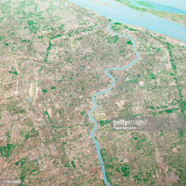 shanghai city 3d render aerial landscape view from south oct 2018 - frankramspott stock pictures, royalty-free photos & images
