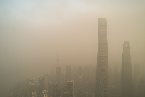 Shanghai city in heavy pollution day - gettyimageskorea