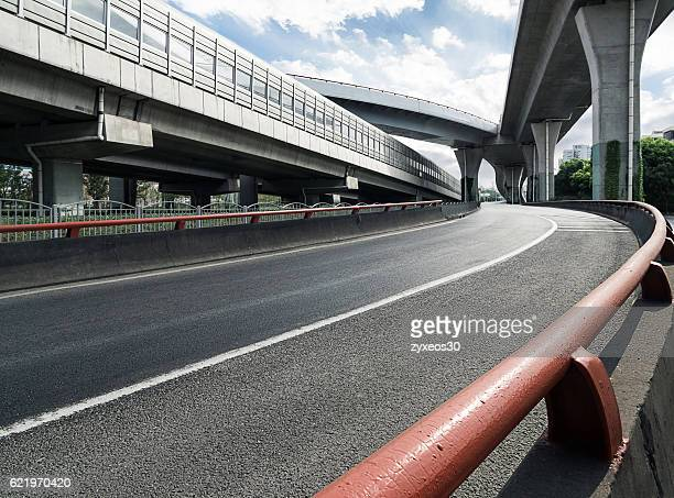 shanghai city overpass, - flyover stock pictures, royalty-free photos & images