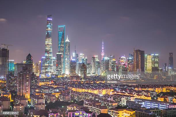 Shanghai city scape of Lujiazui