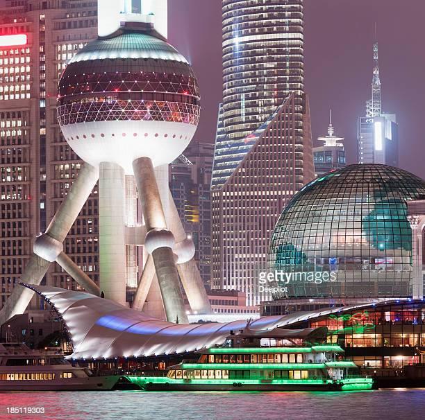 中国の上海の街並みの眺め