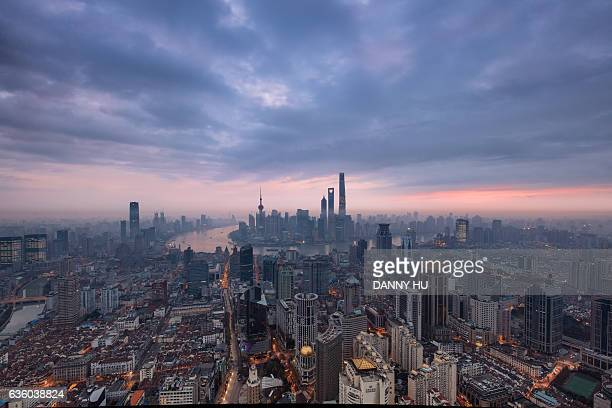 shanghai cityscape in the morning