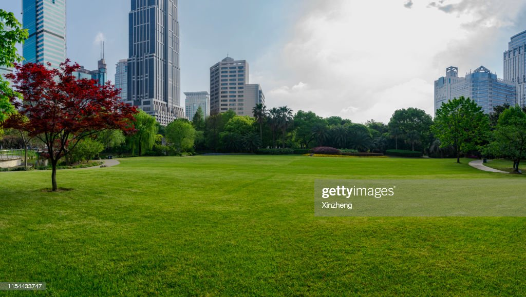Shanghai downtown Greenland with skyscrapers : Stock Photo
