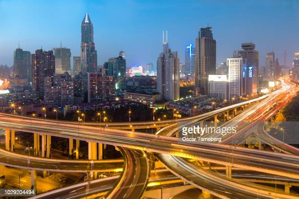 Shanghai elevated highway intersection