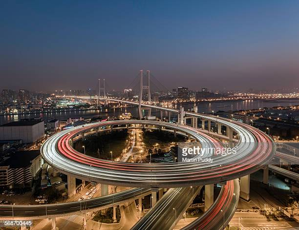 Shanghai, elevated view of Nanpu bridge