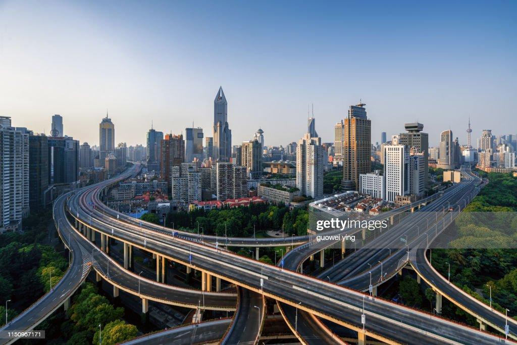 Shanghai Exhibition Center for Art Architecture : Stock Photo