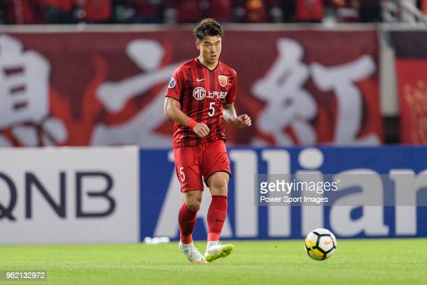 Shanghai FC Defender Ke Shi in action during the AFC Champions League 2018 Group Stage F Match Day 5 between Shanghai SIPG and Kawasaki Frontale at...