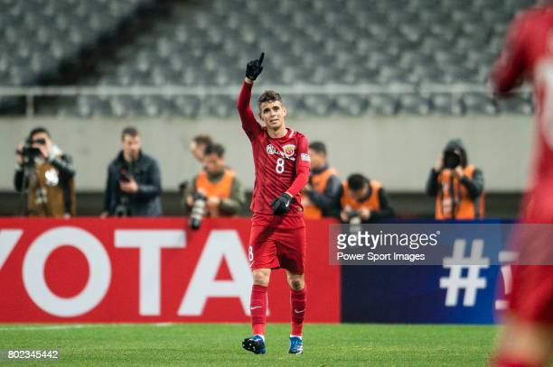 Shanghai FC Forward Oscar Emboaba Junior celebrating his score during the AFC Champions League 2017 Group F match between Shanghai SIPG FC vs Western...