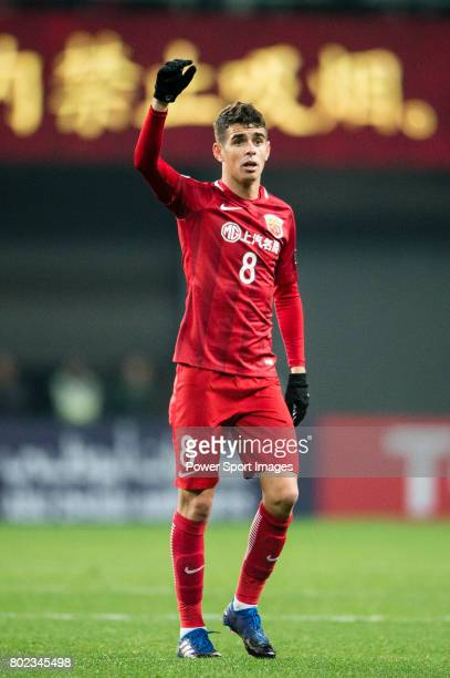Shanghai FC Forward Oscar Emboaba Junior gestures during the AFC Champions League 2017 Group F match between Shanghai SIPG FC vs Western Sydney...