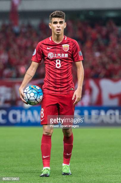 Shanghai FC Forward Oscar Emboaba Junior in action during the AFC Champions League 2017 Round of 16 match between Shanghai SIPG FC vs Jiangsu FC at...