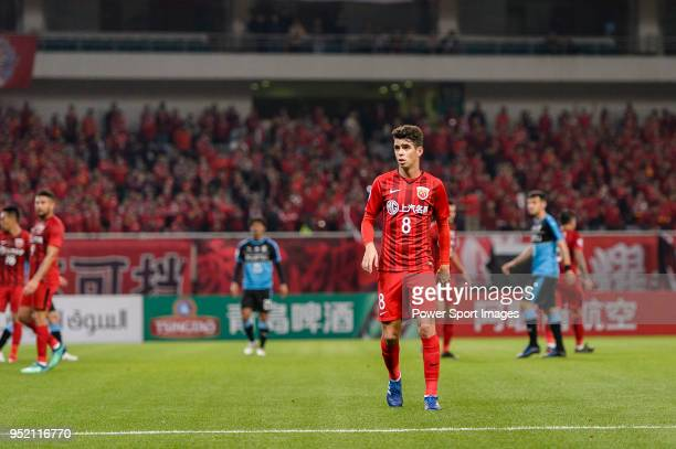 Shanghai FC Forward Oscar Emboaba Junior in action during the AFC Champions League 2018 Group Stage F Match Day 5 between Shanghai SIPG and Kawasaki...