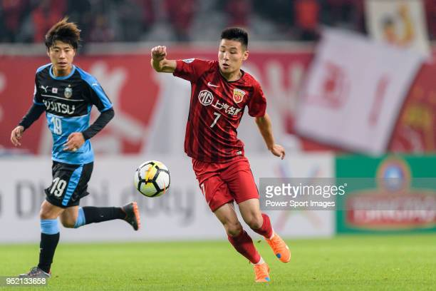 Shanghai FC Forward Wu Lei in action during the AFC Champions League 2018 Group Stage F Match Day 5 between Shanghai SIPG and Kawasaki Frontale at...