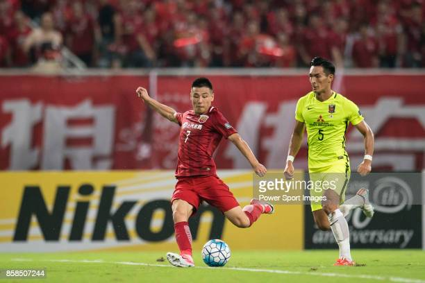 Shanghai FC Forward Wu Lei Shanghai FC Forward Wu Lei in action during the AFC Champions League 2017 SemiFinals match between Shanghai SIPG FC and...