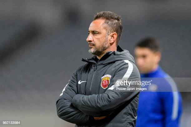Shanghai FC Head Coach Vitor Pereira during the AFC Champions League 2018 Group Stage F Match Day 5 between Shanghai SIPG and Kawasaki Frontale at...