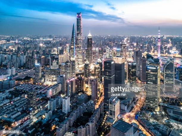 shanghai financial district - 21st century stock pictures, royalty-free photos & images
