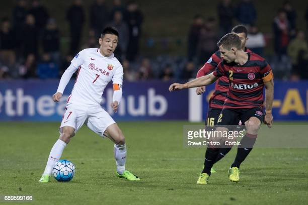 Shanghai forward Wu Lei during the AFC Asian Champions League Group Stage match between the Western Sydney Wanderers and Shanghai SIPG FC at...
