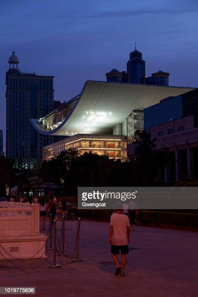 shanghai grand theatre - gwengoat stock pictures, royalty-free photos & images