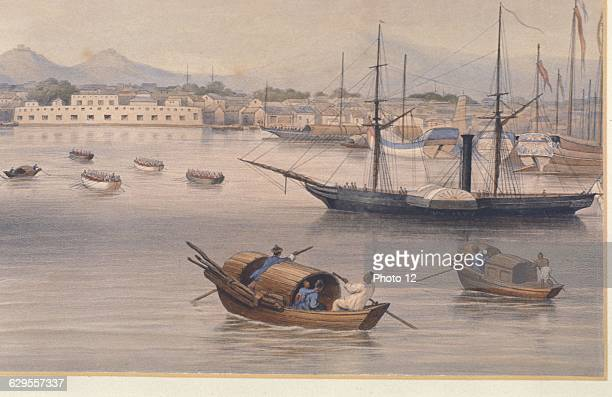 Shanghai harbour c1875Shanghai was one of the Treaty Ports established in 1842 for British traders after China's defeat in the first Opium War From a...
