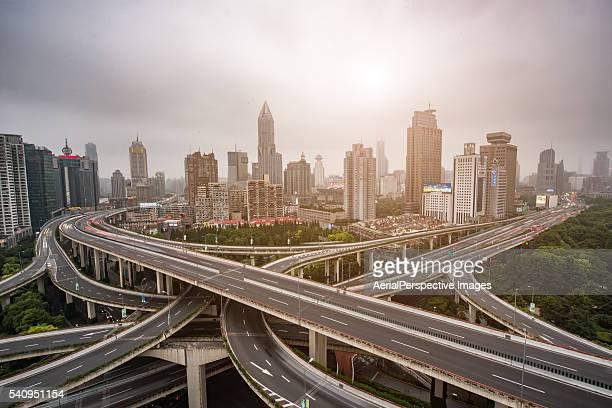 Shanghai Highway at Sunrise