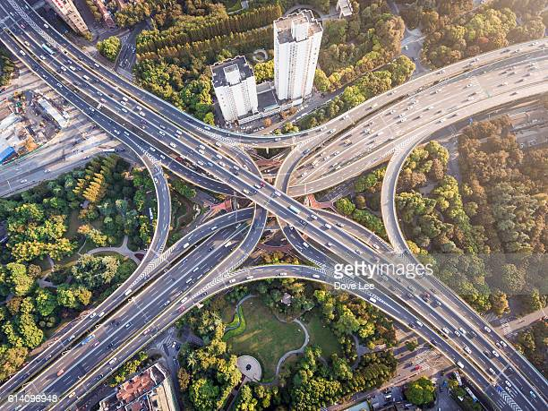 shanghai highway - forked road stock pictures, royalty-free photos & images