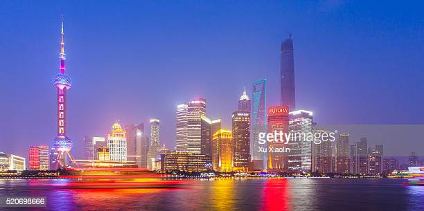 Shanghai Huangpu river and Lujiazui Finance and Trade Zone