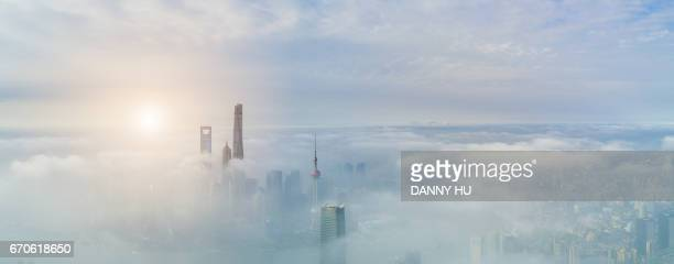 shanghai in fog