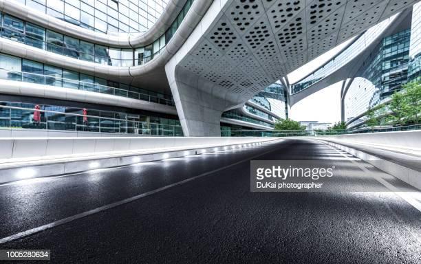 shanghai inner city road - via principale foto e immagini stock